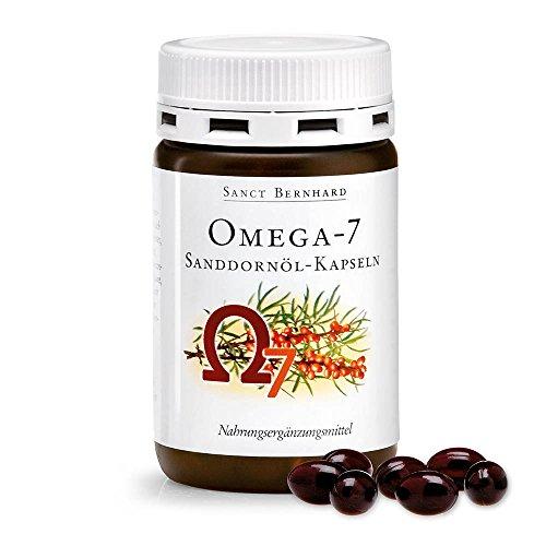 Sanct Bernhard Omega Fettsäuren Sanddornöl-Kapseln mit Sanddornöl aus biologischem Anbau 100 Kapseln