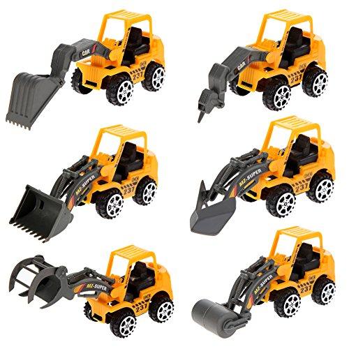Demiawaking 6X Kinder Mini Auto Spielzeug Lot Fahrzeug Sets Pädagogische Engineering Fahrzeug John Deere Cake Topper