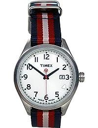 Timex–t2N223s–Originals–Armbanduhr–Quarz Analog–Weißes Ziffernblatt–Armband Nylon Mehrfarbig