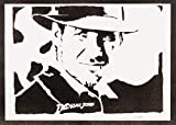 Póster Indiana Jones Grafiti Hecho A Mano - Handmade Street Art - Artwork