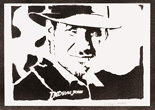 Indiana Jones Poster Plakat Handmade Graffiti Street Art - ()