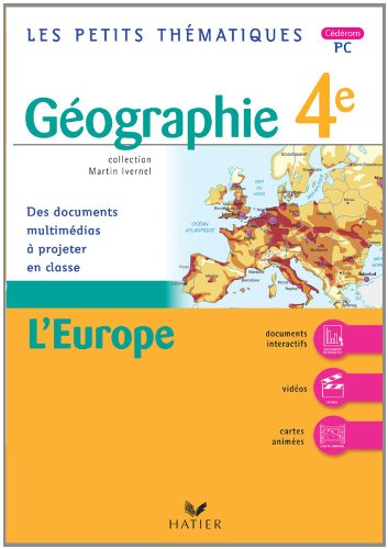 Les petits thematiques - geographie 4e, l'europe - CD-ROM PC