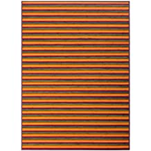Alfombra de salón pop naranja de bambú de 180 x 250 cm Iris - Lola Derek