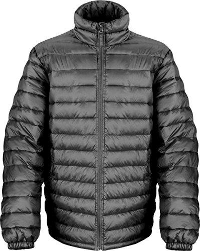 Ergebnis Herren Oberbekleidung Winter Coat Ohrstecker Halsband vorne Reißverschluss Ice Bird Padded Jacket Schwarz - Schwarz