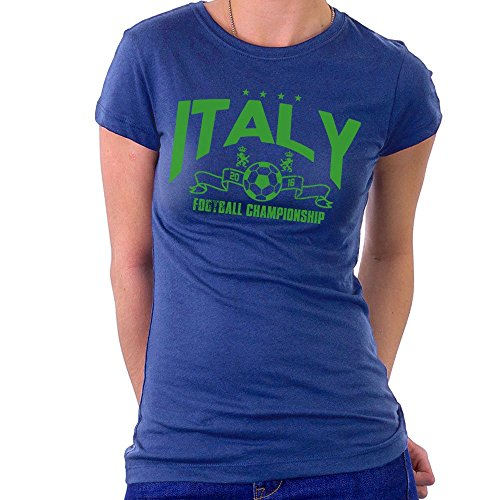 Euro 2016 Football Italy Italia Stars Blue Women\'s T-Shirt