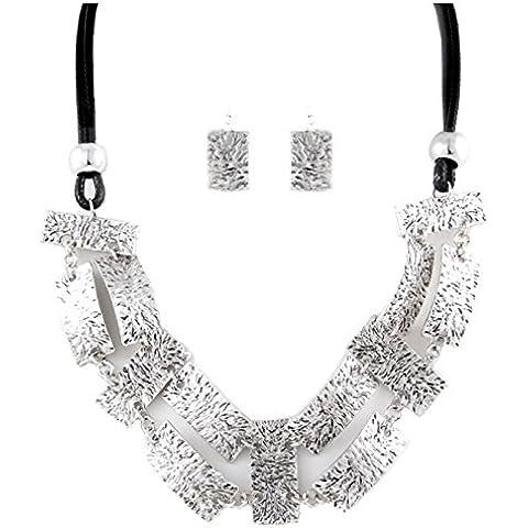 Urban stile boho hippie chic set collana orecchini ciondolo martellato - Martellato Orecchini Di Stile
