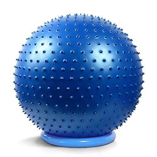 Palla da Yoga/Palla Fitness Palla massaggiante Ispessimento Palla Ginnastica antideflagrante Palla da Massaggio Palla da Yoga Pilates modellatura del Corpo (Color : Blue, Size : 65cm)