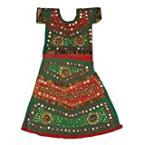 Pikaboo Green Red Girls Chaniya Choli Dress (10-12 Years)