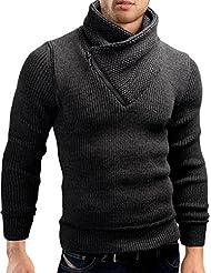 Grin&Bear coup slim sweat shirt fermeture eclair tricoté veste homme, GEC564