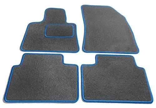 Legacy-schiefer (JediMats 61023L Korfu Maßgeschneiderte Fußmatte für Ihr Auto, Schiefer, Agila Blau Umrandung)