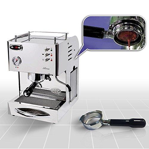 Espressomaschine Quickmilll 04005 Silvano PID Special mit Bodenloser Siebträger und mit standard...