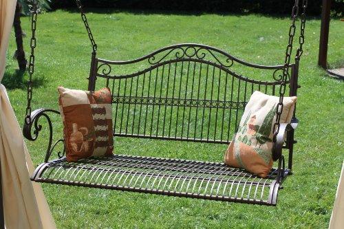 DanDiBo Hängebank Metall Garten 82505 Schaukel mit Ketten