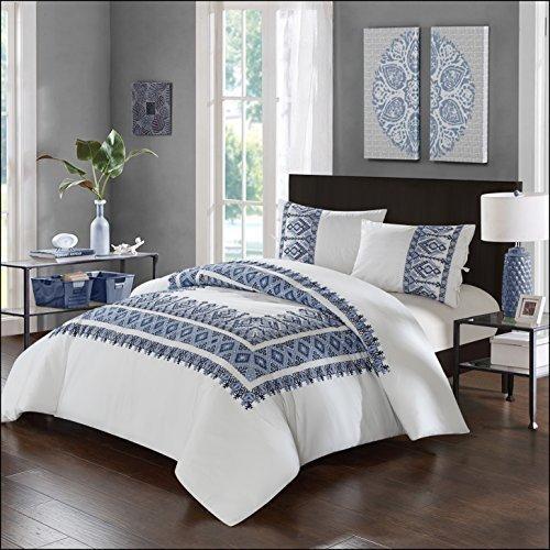 Luxus Bettwäsche Company lux-bed 3PC 100% Baumwolle Tröster Set, weiß, full/Queen