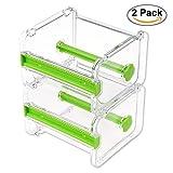 Dometool - Juego de 2 dispensadores de cinta adhesiva Washi, organizador de rollo de cinta, cinta de carrocero, cinta de escritorio, para manualidades, rollo de cinta adhesiva, soporte de almacenamiento