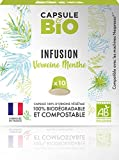 Capsule d'infusion BIO - Infusion Verveine Menthe BIO - 10 capsules compatibles Nespresso - Capsule biodégradable, compostable-Fabriqué en France