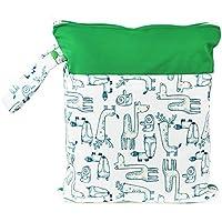 Hisprout Grab and Go impermeable lavable reutilizable Pañal mojado y seco bolsas de pañales Zebra