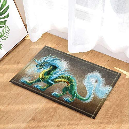 SHUHUI Ölgemälde Wind Horror Monster, heftige Dinosaurier Monster Wasserdicht, langlebig, Rutschfest, Keine Chemikalien