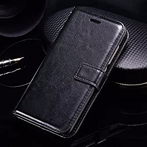 Thinkzy Artificial Leather Flip Cover Case for Redmi 6 Pro - Black