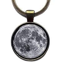 NASA Photograph The Moon Der Mond Foto Keychain Bronze Schlüsselanhänger
