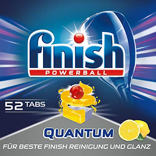 Finish Calgonit Quantum Citrus Spülmaschinentabs, Geschirrspültabs für beste Finish Reinigung und Glanz, Geschirrspülmittel, XXL Pack (1 x 52 Tabs)