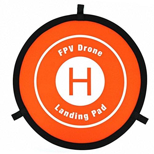 Upxiang Mini 550MM Landepad für Drohnen für DJI MAVIC PRO SPARK 3DR S6 Drone, Fast-fold Landung Parkplatz Schürze Pad für DJI MAVIC Drone (Orange)