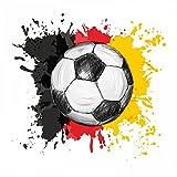 110 Wandtattoo Fussball Deutschland Fahne Flagge schwarz rot gold Kinderzimmer Teenager - in 6 Größen - coole Kinderzimmer Sticker und Aufkleber abwechsungsreiche Wanddeko Wandbild Junge Mädchen Größe 400 x 400 mm