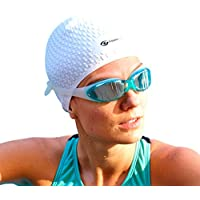 cb5c8e25709 i-Swim Pro Swimming Caps with Nose Clip + Ear Plugs - Comfortable - Stays In  Place - Strong Silicone - Increases Speed – Best Swim Hats For Protecting  Long