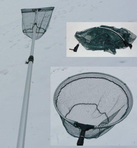 Teleskop Unterfangkescher 2,80 m,bestens geeignet für Forellensee und Put&Take Seen. (Kescher-2,80m)
