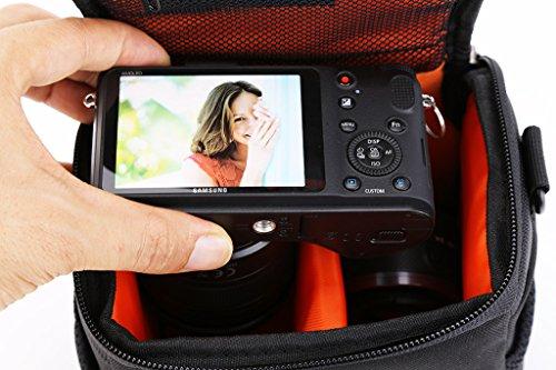 SX400IS SX170IS XS700HS SX520HS G7X SX710HS SX530HS SX410IS SX420IS SX540HS G3X; Canon EOS M M3 M10 M5 M6 Black Nylon Shoulder Waist Bridge//Compact System Camera Carry Case Bag For Canon PowerShot SX500IS G15 G16 G1X SX510HS SX50HS G1X MKII