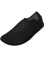 Panegy - Zapatos Aguamarina de Agua Deportes Unisex Suave para Hombre Mujer al aire libre para Buceo Yoga Surf Zapatiilas de Playa Antideslizantes Malla - Verde Azul Negro - Talla EU 36 -44