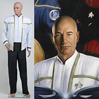 Star Trek Insurrection Némésis Mess Uniforme Blanc Cosplay Costume Déguisement - *Sur Mesure*