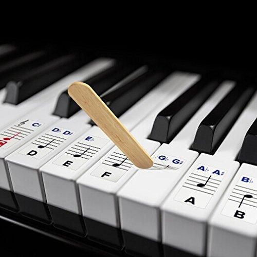 Yinew Klavier Aufkleber für Transparent abnehmbar mit 54/61/76/88 Key Keyboard Piano Verwendet Keyboard Klavier