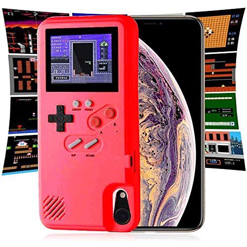 Preisvergleich Produktbild leegoal Gameboy Phone Case,  Farbdisplay Aus Gehärtetem Glas Retro 3D TPU-Gehäuse Mit 36 kleinen Spielen,  Stoßfestes Videospiel-Case Für iPhone 6 / 7 / 8 / 6Plus / 7Plus / 8Plus / X / Xs Max / XR