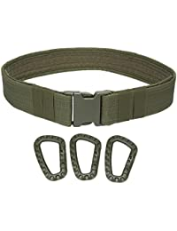 niceEshop(TM) Men's Web Military Tactical Heavy Duty Combat Belt with Buckle and Clip Hook