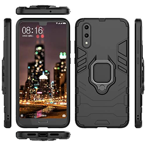 Forhouse Slim Fit Cellphone Case Huawei P20 Hülle Shock Absorption Girls Defender Drop Protection Cover Bumper Hülle for Huawei P20 - Black