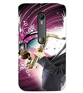 PrintDhaba Trumpet D-3047 Back Case Cover for MOTOROLA MOTO G3 (Multi-Coloured)