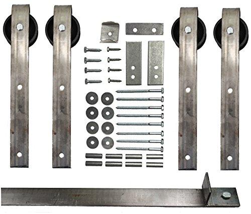 Schiebetür Scheunentor Hardware-Kit mit 12ft. Track enthalten–Made in USA