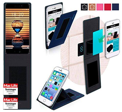 reboon Hülle für Meizu Pro 7 Plus Tasche Cover Case Bumper | Blau | Testsieger