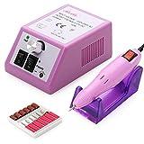 Gesundheit Schönheit Werkzeuge: Belle Elektrische Nagellack Maniküre Pediküre Drill-Datei-Set mit Bits für Gel, Acryl, natürliche Nägel, Rosa