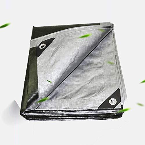 wasserdichte Hochleistungs-Mehrzweckplane Für Hitzebeständige Bodenabdeckungen Hochwertige Abdeckung Hergestellt Für Zelt Und Holz (Color : Silver, Size : 8X12M)