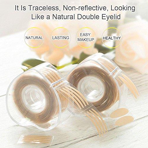 600 Paar Double Augenlider Adhesive Tape, Doppelte Augenlid Auge Band Aufkleber Augenlid Kleber Kosmetikkleber Eyelid Tape Augen Klebeband