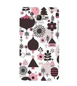 ifasho Designer Phone Back Case Cover Samsung Galaxy On5 Pro (2015) :: Samsung Galaxy On 5 Pro (2015) ( Pink Black Bow Colorful Pattern Design )