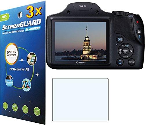 3x Canon PowerShot sx530hs sx-530SX530HS Digital Kamera Premium HD Clear LCD displayschutzfolie Guard Shield Cover Kit -