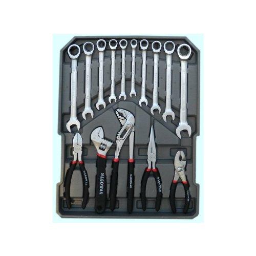 186 tlg. Werkzeug-Set mit RINGRATSCHEN im Trolley-Koffer Werkzeugkoffer CV - 3