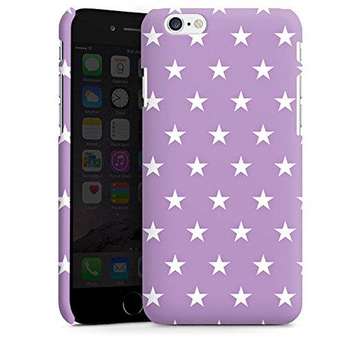 Apple iPhone X Silikon Hülle Case Schutzhülle Sterne Polka Flieder Premium Case matt
