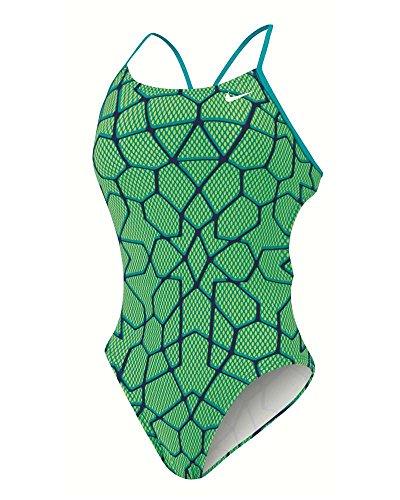 Nike Frauen Starglass Cut-Out Tank Badeanzug (36, Energie) (Nike-cut-out Tank)