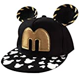 THENICE Kind Hip-Hop Boy Orecchiette Cap Baseball Kappe Hut (schwarz)