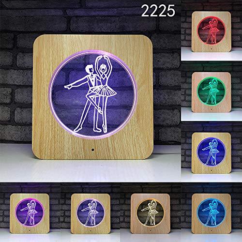 3D Illusion Lampe Nachtlicht optische Lampe Schreibtischlampe 3D nachtlicht led schreibtischlampe smart Home atmosphäre multifunktions, 2225, siebenfarbige Note