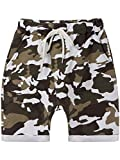BEZLIT Jungen Kurze Baggy Capri Hose Stoff Shorts in Camouflage Made in Italy 22718, Farbe:Weiß, Größe:164