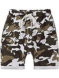 BEZLIT Jungen Kurze Baggy Capri Hose Stoff Shorts in Camouflage Made in Italy 22718 Weiß Größe 164